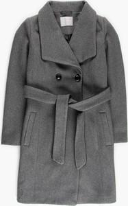 Płaszcz Gate z wełny w stylu casual krótki