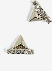 782 Ozdoba do manicure Semilac złote piramidy, 2 sztuki