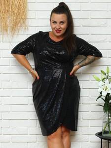 Sukienka KARKO z okrągłym dekoltem mini