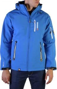 Niebieska kurtka Geographical Norway krótka w sportowym stylu