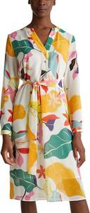 Sukienka Esprit w stylu casual koszulowa z dekoltem w kształcie litery v