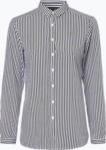Koszula comma, z długim rękawem z tkaniny z kołnierzykiem