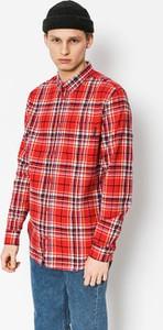 Czerwona koszula DC Shoes z bawełny z długim rękawem