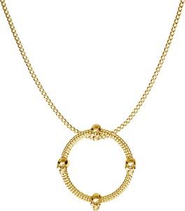 GIORRE SREBRNY NASZYJNIK OKRĄG 925 : Długość (cm) - 70, Kolor pokrycia srebra - Pokrycie Żółtym 24K Złotem