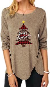 Bluzka Sandbella w bożonarodzeniowy wzór