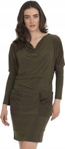 Zielona sukienka Joseph Ribkoff z długim rękawem