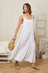 Sukienka Rodier Lin z lnu maxi na ramiączkach