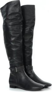 Kozaki Victoria Gotti ® za kolano ze skóry w stylu casual