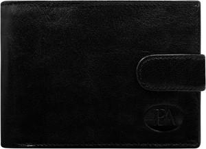 Czarny portfel męski Pierre Andreus ze skóry na dokumenty