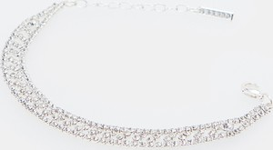 Mohito - Bransoletka z kryształkami - Srebrny