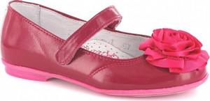 Różowe balerinki Wojas