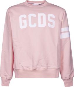 Różowy sweter Gcds z wełny