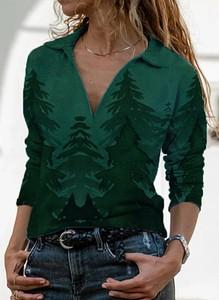 Zielona bluzka Sandbella z kołnierzykiem