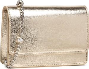 Złota torebka DeeZee lakierowana na ramię