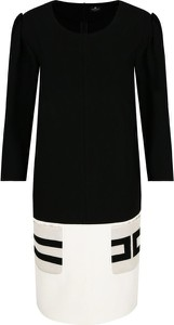Sukienka Elisabetta Franchi z okrągłym dekoltem w stylu casual