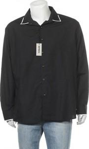 Czarna koszula Impress w stylu casual z długim rękawem z klasycznym kołnierzykiem
