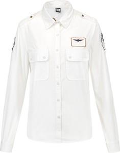 Koszula Aeronautica Militare z tkaniny z kołnierzykiem