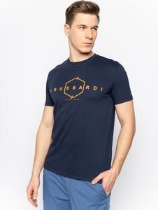 Granatowy t-shirt Trussardi Jeans