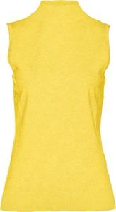Żółta kamizelka bonprix bpc selection krótka