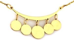 Lovrin Złoty naszyjnik 585 wiszące kółeczka na łuku