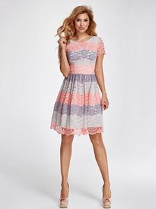 Sukienka Marselini rozkloszowana z okrągłym dekoltem