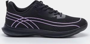 Czarne buty sportowe Sinsay z płaską podeszwą sznurowane