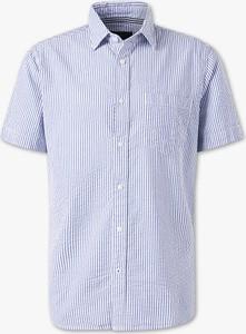 Koszula ANGELO LITRICO w stylu casual z bawełny z krótkim rękawem