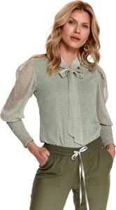 Bluzka Top Secret w stylu casual z dekoltem w kształcie litery v z tkaniny
