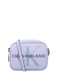 Fioletowa torebka Calvin Klein na ramię ze skóry ekologicznej