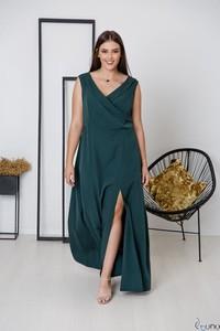Zielona sukienka tono.sklep.pl bez rękawów