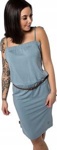 Niebieska sukienka Inna mini na ramiączkach