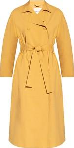 Żółty płaszcz Samsøe & Samsøe w stylu casual