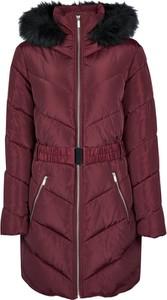Czerwona kurtka Dorothy Perkins długa w stylu casual