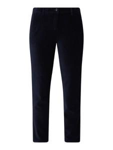 Granatowe spodnie Esprit ze sztruksu