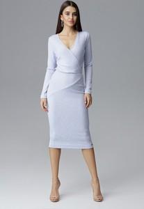 Sukienka Figl midi z tkaniny