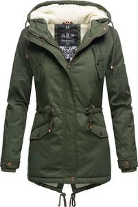 Zielona kurtka Marikoo w stylu casual z bawełny