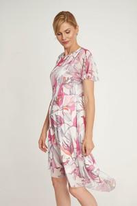 Sukienka QUIOSQUE w stylu boho z krótkim rękawem