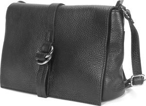 Czarna torebka Domeno mała ze skóry na ramię