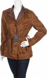 Brązowa kurtka Made in Italy w stylu casual krótka