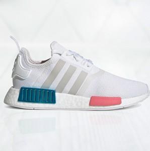 Buty sportowe Adidas nmd sznurowane z płaską podeszwą