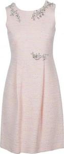 Różowa sukienka Moschino z bawełny mini
