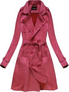 Płaszcz Libland z zamszu w stylu casual