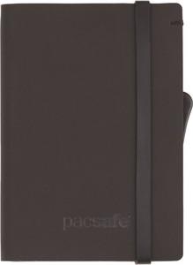 Brązowy portfel męski Pacsafe