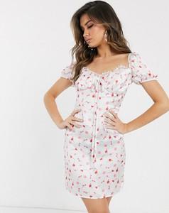 Sukienka Koco & K z krótkim rękawem z dekoltem w kształcie litery v mini