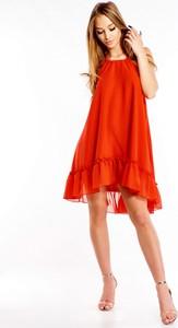 Sukienka La Coca z okrągłym dekoltem z odkrytymi ramionami