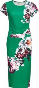 Sukienka bonprix BODYFLIRT boutique z okrągłym dekoltem z krótkim rękawem