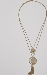 Mohito - Długi naszyjnik z medalionami - Złoty