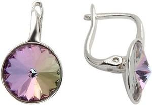 Polcarat Design Kolczyki srebrne z kryształami Swarovskiego K 1670 : Kolor - Vitrail Light
