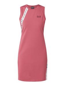 Różowa sukienka Emporio Armani mini z bawełny koszulowa
