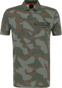 Koszulka polo Armani Jeans w militarnym stylu